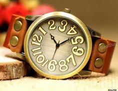 Men Wristwatches Women Leather Watc..