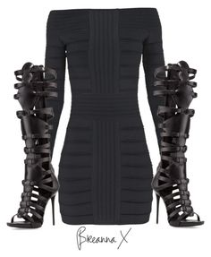 A fashion look from October 2015 featuring Balmain dresses and Giuseppe Zanotti sandals. Browse and shop related looks. Night Outfits, Classy Outfits, Sexy Outfits, Cool Outfits, Casual Outfits, Fashion Outfits, Trend Fashion, Fashion Killa, Look Fashion