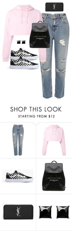 """Untitled #631"" by katiemarte ❤ liked on Polyvore featuring River Island, F.A.M.T., Madewell, Balenciaga, Yves Saint Laurent and Witchery"