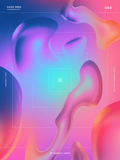 Abstract highly colourful poster design