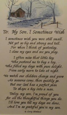 For my son