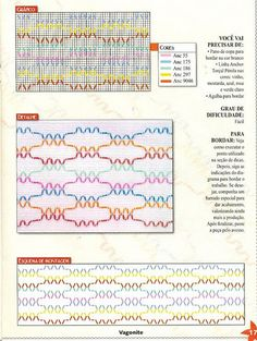Revista: Coleção Arte Fácil Vagonite   Fazer Mais Fácil Hand Embroidery Stitches, Types Of Embroidery, Embroidery Patterns, Punto Smok, Huck Towels, Swedish Weaving Patterns, Bargello Needlepoint, Swedish Embroidery, Blackwork Patterns
