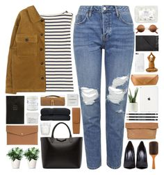 """""""#928"""" by giulls1 ❤ liked on Polyvore featuring Yves Saint Laurent, Topshop, Givenchy, Aveda, Acne Studios, Native Union, NOVICA, See by Chloé, Faber-Castell and Lodis"""