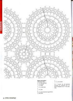 Crochet Bedspread Patterns Part 14 - Beautiful Crochet Patterns and Knitting Patterns Filet Crochet, Beau Crochet, Crochet Diagram, Crochet Chart, Kids Crochet, Crochet Quilt, Crochet Bedspread Pattern, Crochet Motif Patterns, Knitting Patterns