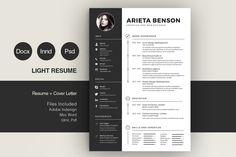 Clean Cv-Resume by Estartshop on @creativemarket
