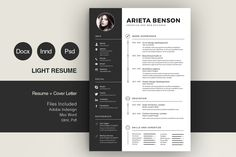Clean Cv-Resume by Estartshop on @creativemarket