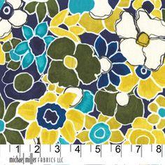 Michael Miller Fabrics Garden Carpet in Navy 1/2 Yard From the Laura Gunn Garden Wall Collection from neemerone on Etsy Studio