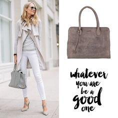www.marington.nl > Whatever You are, be a Good One. #burkely #mode #fashion #tas #handtas #grijs