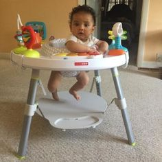 Trying to keep Milan entertained hes obsessed with me! And this activity table is so cute !! #skiphop #babyboy