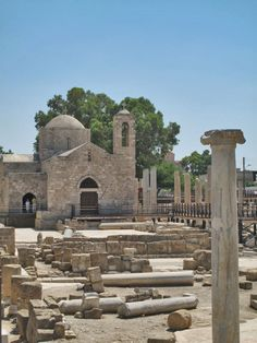 Cyprus - The Early Christian Basilica of Panayia Chrysopolitissa and Ayia Kyriaki Church, Paphos