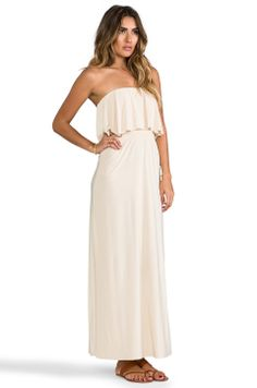 Strapless Tiered Maxi