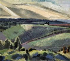 "Cotswold Hills -Your Paintings - Paul Nash paintings. This sums up the atmosphere of a landscape better for me than a more ""realistic"" painting. Abstract Landscape, Landscape Paintings, Landscape Drawings, Abstract Painters, Time Painting, Art Uk, Magritte, Plein Air, Your Paintings"