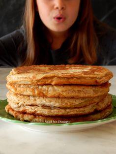 Τηγανίτες μπανάνας χωρίς ζάχαρη Banana Pancakes, Brunch, Bread, Breakfast, Food, Morning Coffee, Plantain Pancakes, Breads, Bakeries