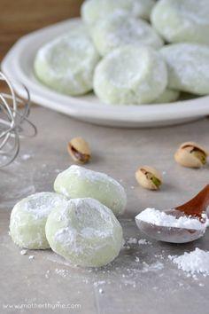 Pistachio Wedding Cookies - Mother Thyme
