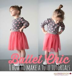 There are very few things that are as feminine and fun as wearing a lovely tulle tutu. These dance-tastic little pieces can really add some flair to you and your girl's wardrobe and they are surprisingly easy to make. Learn how to make a tutu with one of these easy sewing tutorials.