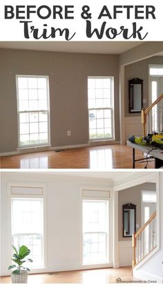 LOVE it! Before and After of Trim Work