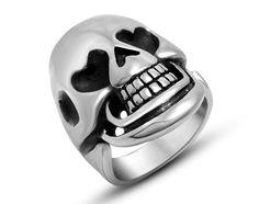 US$ 2.42 Online Wholesale Steel Love Eye Skull Rings