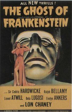 vintage horror movie posters   ... GHOST OF FRANKENSTEIN - Vintage Horror Movie Posters Wallpaper Image