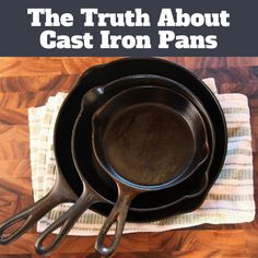 Even your cast iron pan needs a bit of TLC. What you can and can't do with a cast iron skillet.