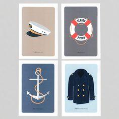 326 Print Set - Nautical Series - Prints from New Zealand