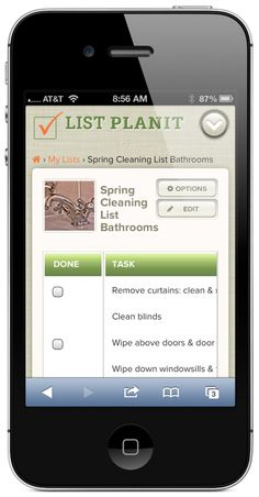 Creating a Spring Cleaning List for Bathrooms and Laundry Room | ListPlanIt.com