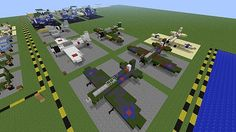 Military Museum - Fighter Aircraft, Vehicles Boats Minecraft Project