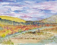 Original Watercolor Landscape Ireland by MarthaHorman on Etsy, $40.00