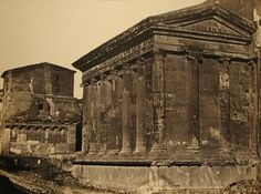 Temple of Fortuna Virilius and the House of Rienzi 1868 (ca) Albumen print from Collodian Negative 12 x 15 Temple, Louvre, Travel, Rome, Viajes, Temples, Trips, Traveling, Tourism
