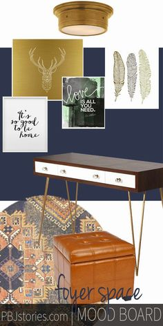 Mood boards to get an idea of how to decorate a  particular area