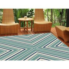 Bliss Rugs Chester Transitional Area Rug, Blue