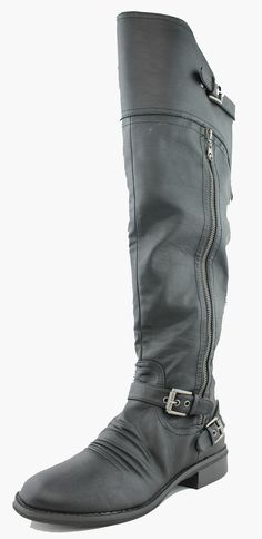 G By Guess Women's Black Hektor Over The Knee Boots