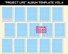 8.5x11 Album Template Photoshop Template by EmmaDoanDesign on Etsy