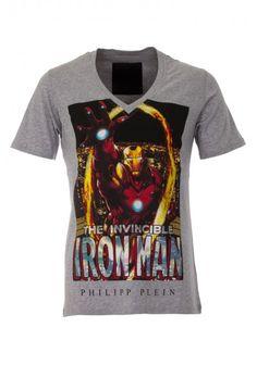 Philipp Plein - 'The Invincible' T Shirt Grey | Mens T Shirt | BOUDI, 98 New Bond St. London W1S 1SN, United Kingdom | www.boudi.co.uk