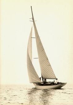 This is an example of a sloop named Evelyn Hope.She was named after a poem by Robert Browning. ED & Charles Gibson Cowan sailed from England to the Mediterranean in July 1938.