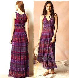Anthropologie mayacamas maxi dress