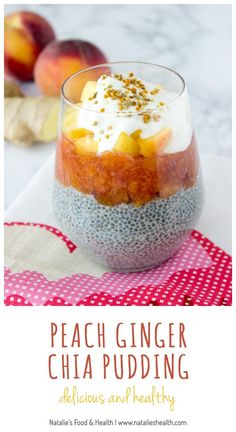 Aromatic, refreshing with sweet but slightly spicy flavor, peach ginger chia seed pudding is perfect summer dessert. This healthy and very nutritious dessert is full of high-quality proteins and fibers, as well as healthy omega-3 acids and vitamins. CLICK to read more or PIN for later!