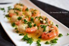 Les recettes de Nathou: Gambas à l'ail, citron et Pastis