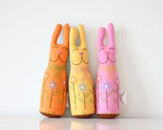 Easter Bunny Plush Orange Easter Basket Gift Made to order. via Etsy. Hoppy Easter, Easter Bunny, Tasty Peach Studios, Easter Gift Baskets, Basket Gift, Plush Pattern, Easter Parade, Bunny Plush, Crochet Bunny