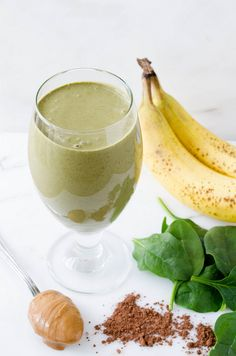 Chocolate Peanut Butter Green Smoothie | cooking ala mel by cookingalamel, via Flickr