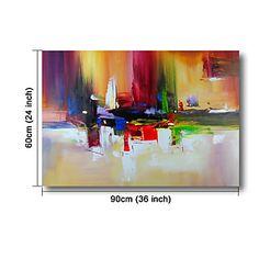 prêt à accrocher étiré peinture à l'huile peinte à la main sur l'art mur de toile abstraite contemporaine vivante mélodie de couleurs de 4644398 2016 à €57.81