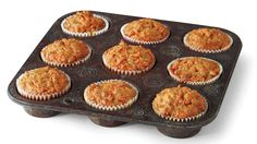 Carrot Cake MuffinsHow to Make ItStep 1Preheat oven to 350°. Place about 15 paper baking cups in muffin pans, and coat with cooking spray.Step 2Combine flour and next 4 ingredients in a large bowl; make a well in center of mixture. Whisk together …