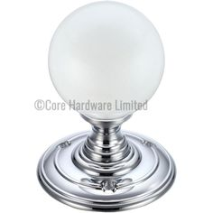 Picture of Fulton and Bray Glass Frosted door knob - FB302CP