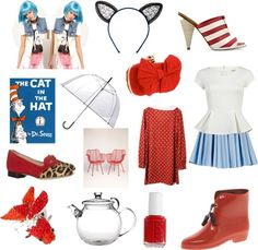 A Literary Take on Fashion--Cat in the Hat by Dr. Seuss