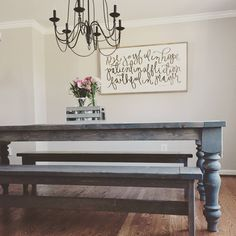 Cottage Farmhouse Table using Turned Wood legs from Design59 DIY woodworking supplies