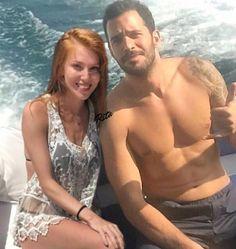 Elcin Sangu and Baris Arduc Turkish Men, Turkish Fashion, Turkish Beauty, Turkish Actors, Cute Celebrity Couples, Cute Couples, Hot Actors, Actors & Actresses, Sexy Military Men