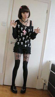 Goth Style 328551735306260455 - Creepy Doll – Page 5 Plus Source by Nu Goth, Grunge Goth, Pastel Goth Fashion, Kawaii Fashion, Gothic Fashion, Steampunk Fashion, Emo Fashion, Visual Kei, Filles Alternatives