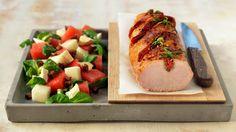 MatPrat - Helstekt ytrefilet av svin med chorizo og rosmarin