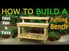 Garden work bench plans stylish diy how to build a potting official video inside 4 architecture: Rustic Potting Benches, Potting Bench With Sink, Outdoor Potting Bench, Pallet Potting Bench, Planter Bench, Potting Tables, Pallet Work Bench, Potting Soil, Outdoor Storage