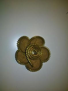 Flor cremallera zipper flower brooch
