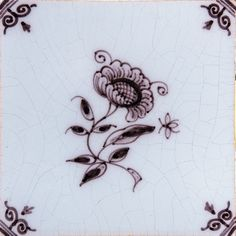 Small Flowers Blue Glazed Ceramic Tiles 5x5 | Country Floors of America